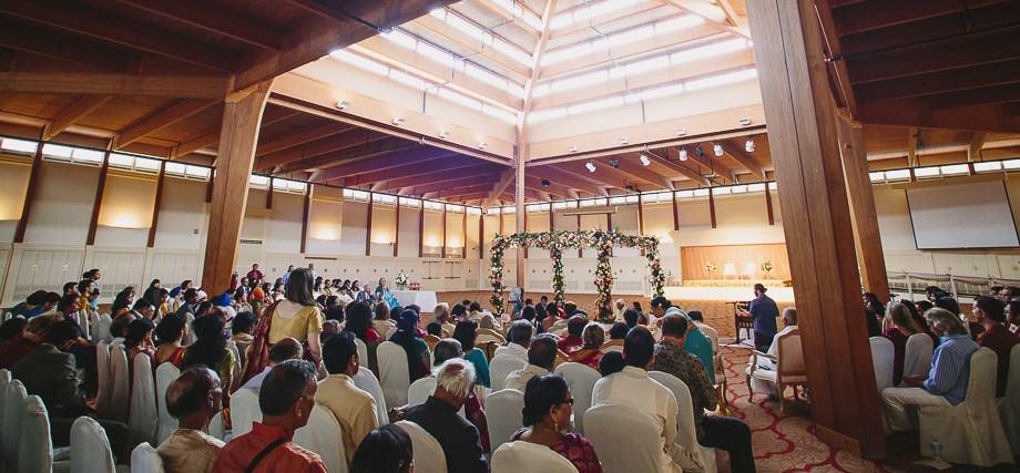 inside main meditation hall