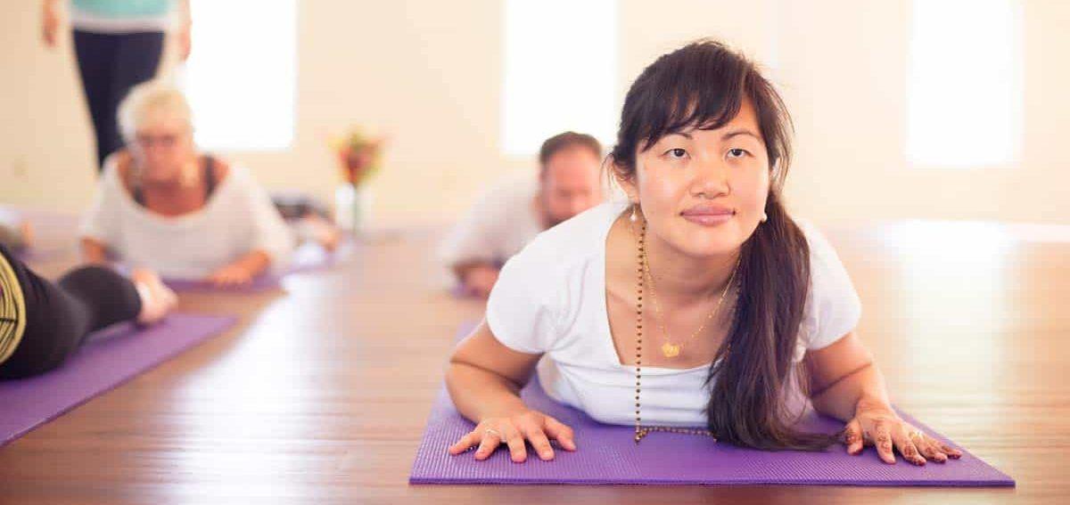 Yoga retreat center practices in North Carolina.