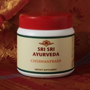 Ayurvedic wellness products at the retreat center.