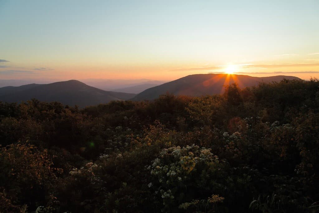 The sunset view from nearby Elk's Know