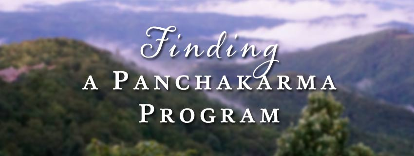 finding a panchakarma program