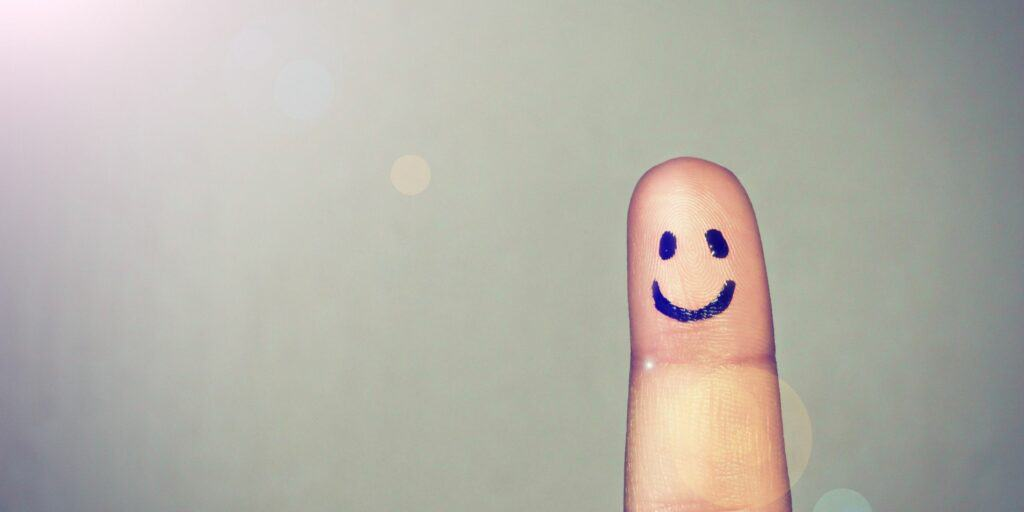 Happy Face on Finger