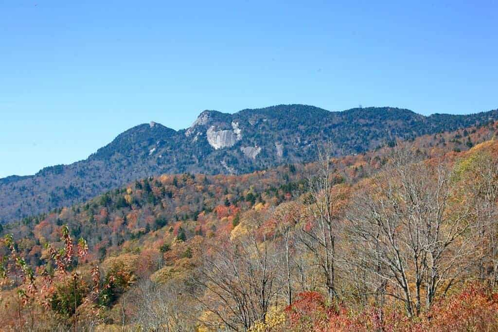 North Carolina Fall Colors near Grandfather Mountain