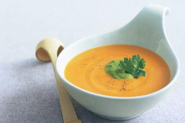 Kasia's sweet potato soup with Ayurveda