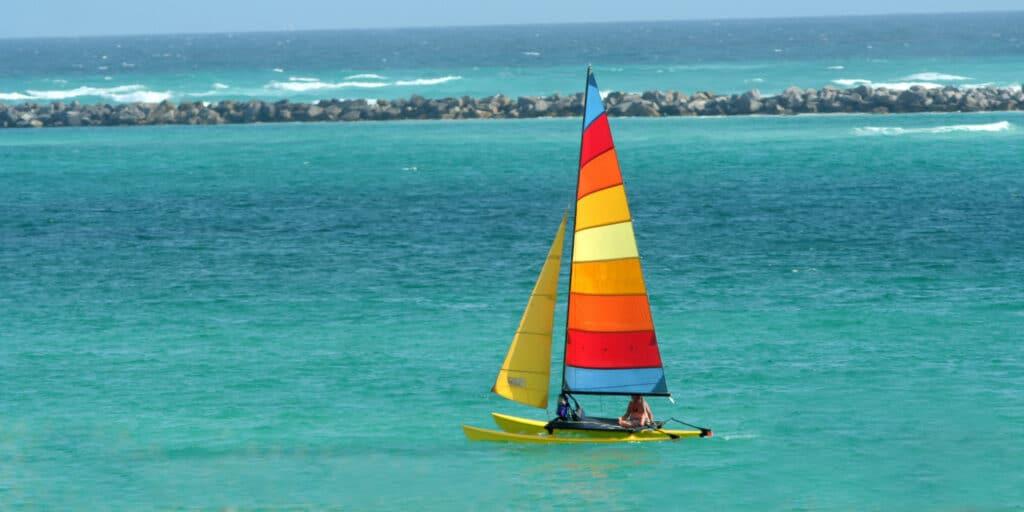 sailboat colorful sail