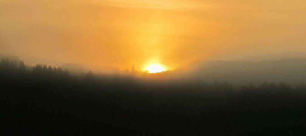 serene sunset view