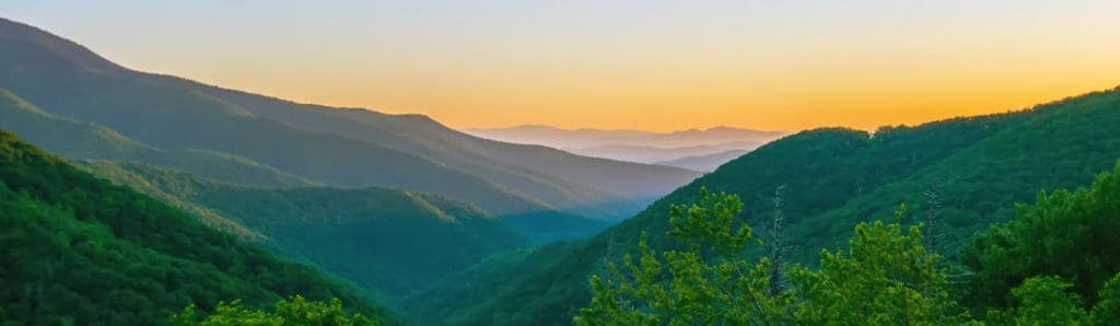Blue Ridge mountains in Boone