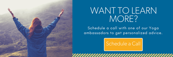 Schedule a call with a yoga ambassador to learn more