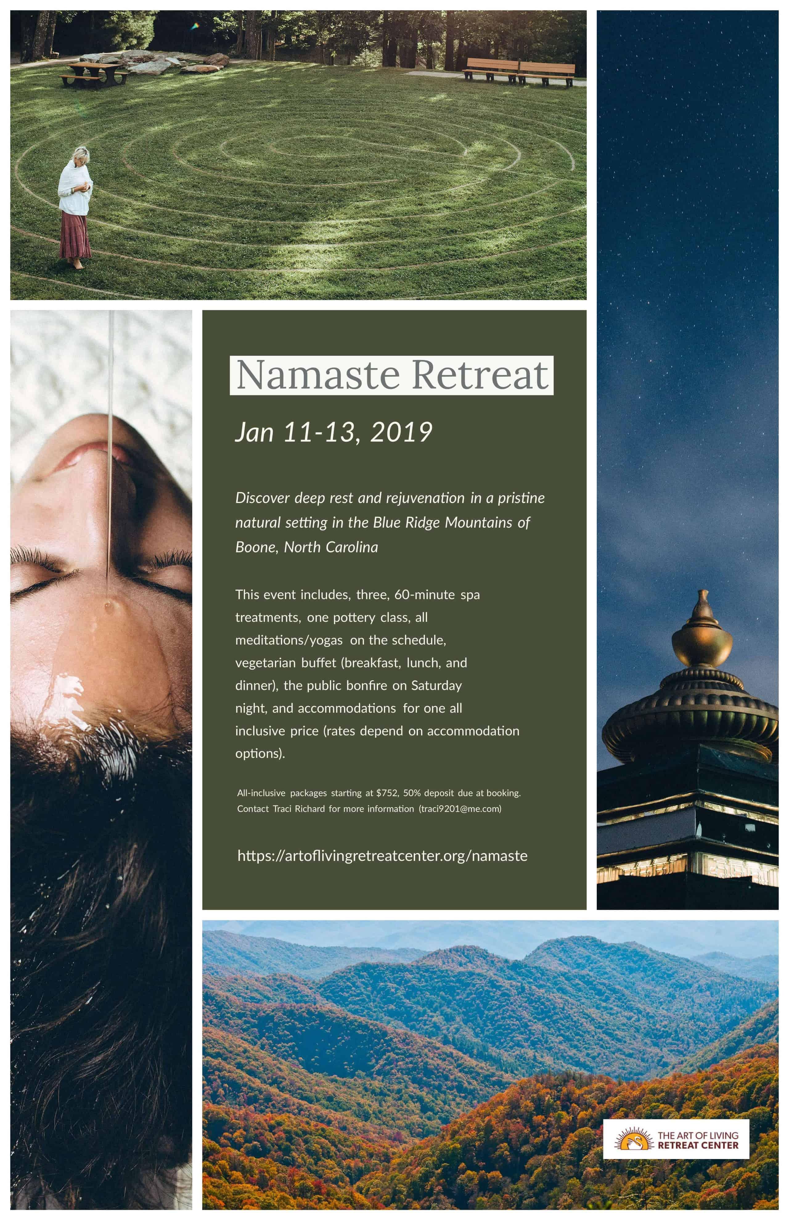 Namaste Retreat | Jan 11 U2013 13, 2019