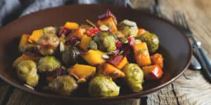 brussels sprouts and yams