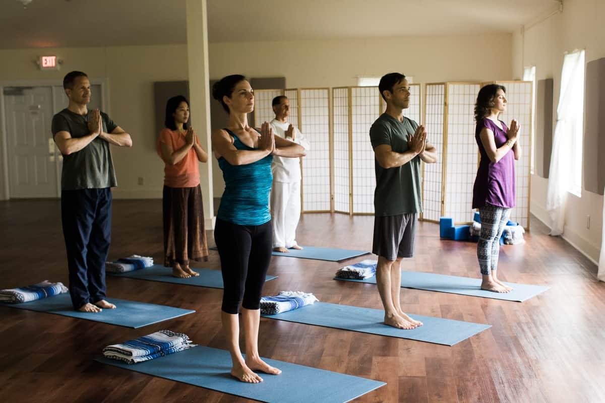 yoga class namaste