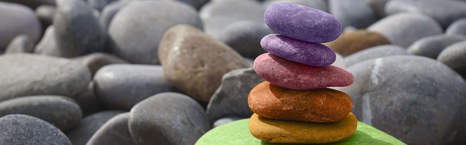 colorful rocks balancing