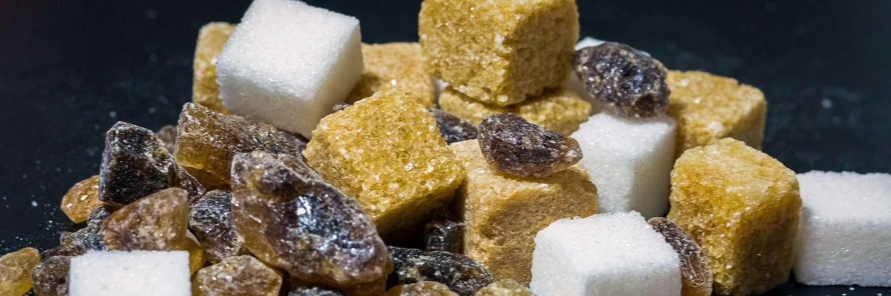 sugar cubes brown white raw