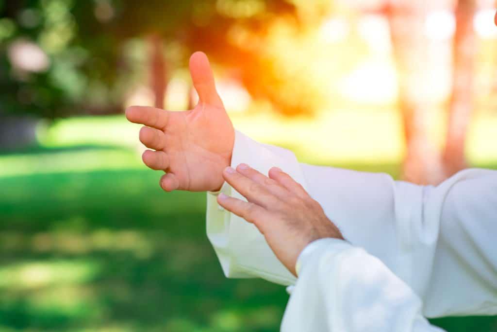 sunlight in hands