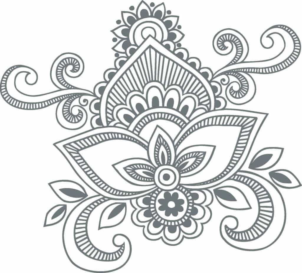 indian pattern gray
