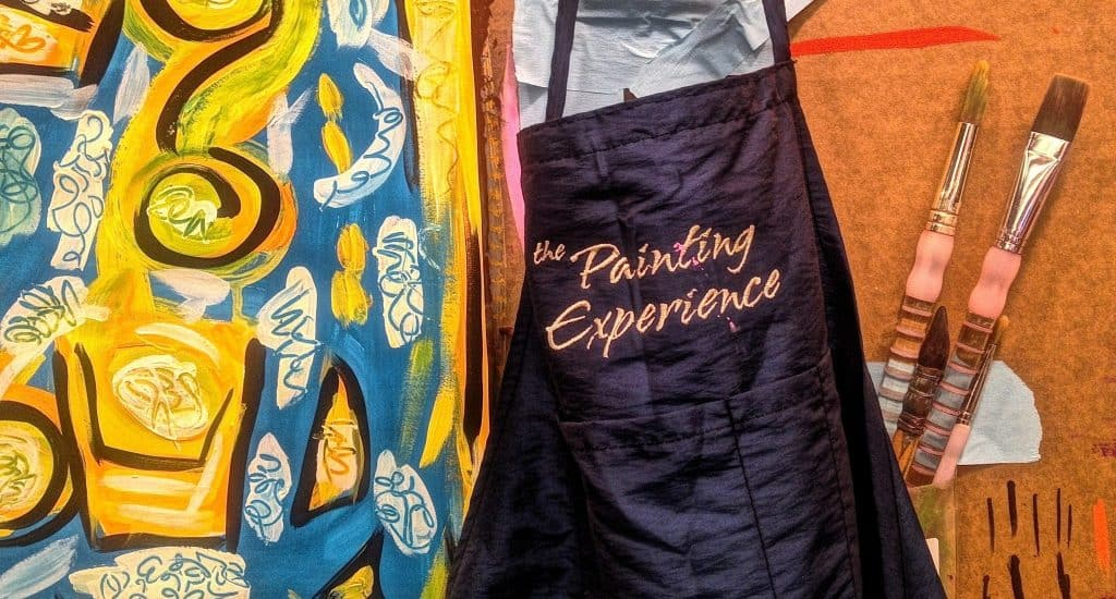 painting experience apron