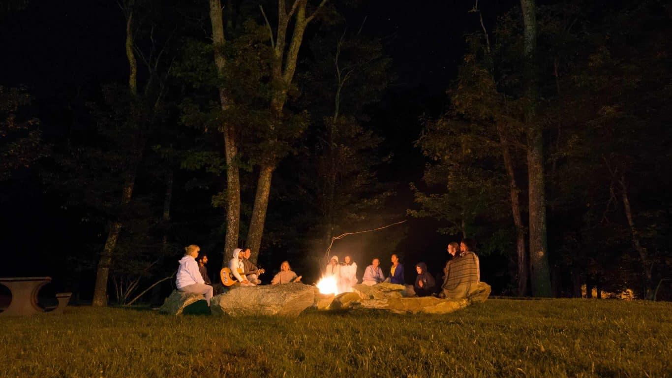 Bonfire circle camp NC