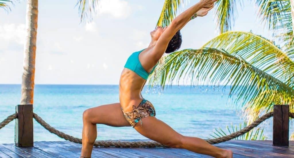 grace in yoga pose