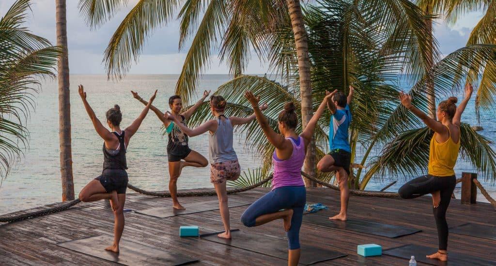 Grace leading yoga