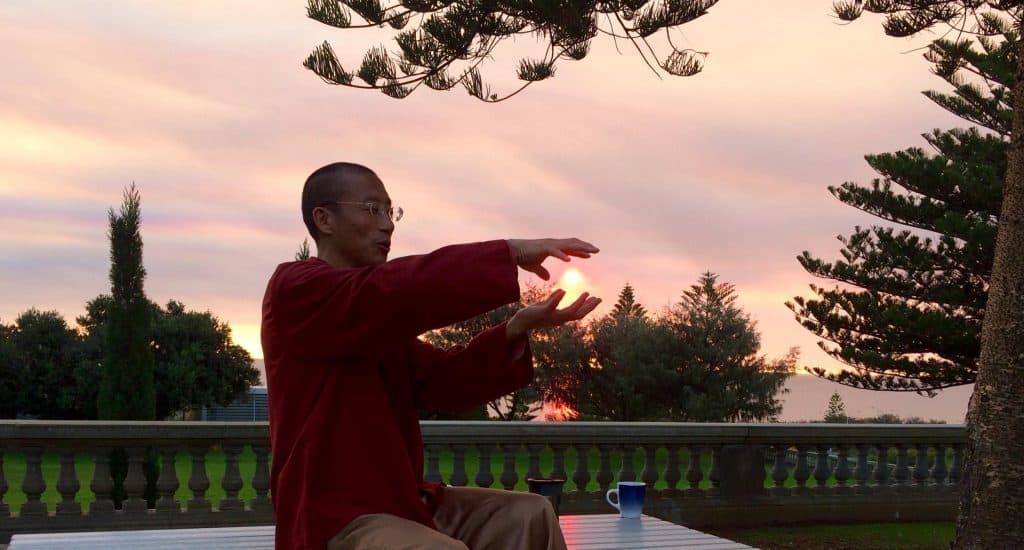 Mingtong Gu holding the sun
