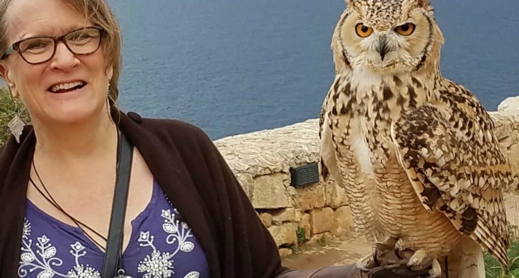 rachel with owl