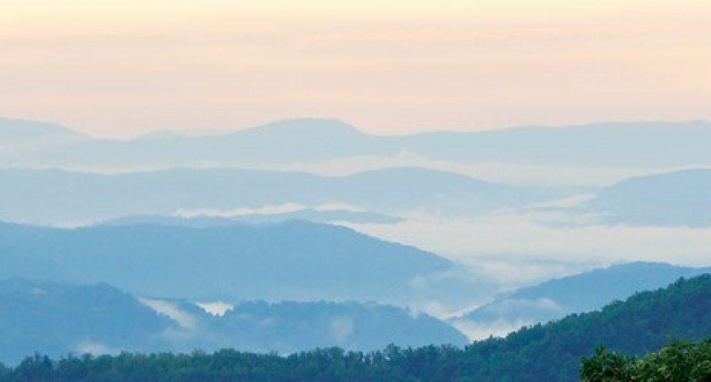 mountain view blue