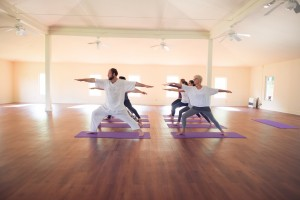 Practice yoga with your group at one of our 4 Veda Halls